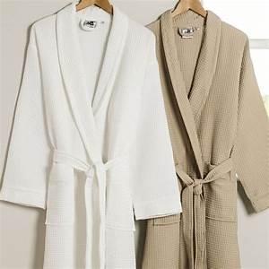 King Of Cotton : executive piped cotton waffle bathrobe king of cotton ~ Nature-et-papiers.com Idées de Décoration