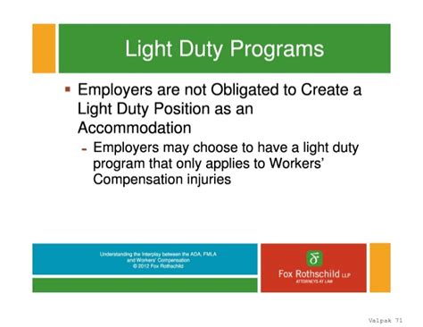 workers compensation light duty policy rl1 1022709 v1 marsh interplay