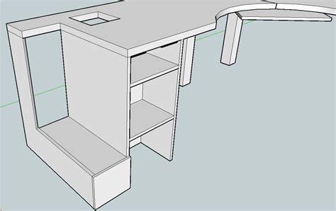 plans corner desk construction plans
