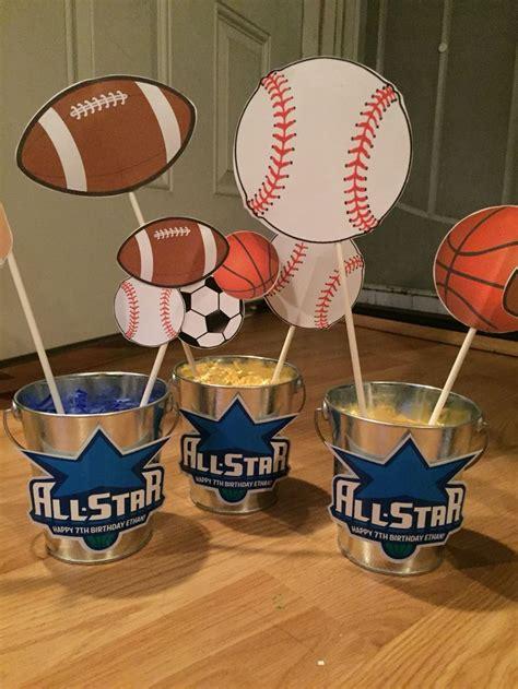 sports themed centerpieces ideas  pinterest