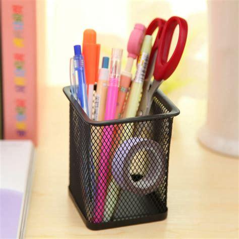 desk pencil organizer durable office desk pen ruler pencil holder cup mesh