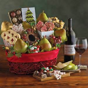 christmas gift basket with wine harry david