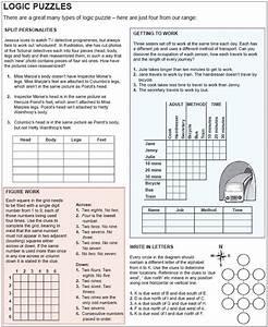 Logic Puzzle | New Calendar Template Site