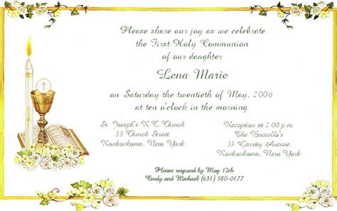 communion invitation templates rectangular designing communion invitation cards template layout sle free printable paper