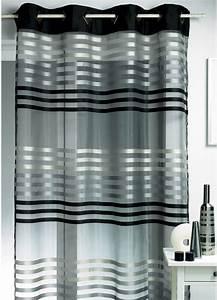 Rideau Gris Et Blanc : rideaux pour salon noir et blanc inspirations et rideau ~ Dailycaller-alerts.com Idées de Décoration