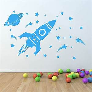 39children39s space set39 wall sticker by oakdene designs With space wall decals