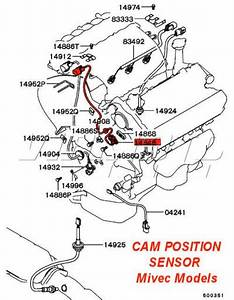 Viamoto Mitsubishi Car Parts Cam Position Sensor