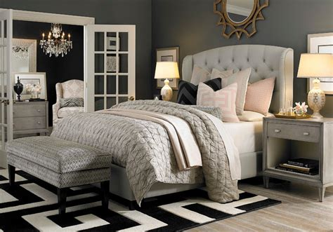 Hgtv Bedroom Furniture by Hgtv Home Custom Upholstered Arched Winged Bed By