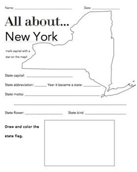 new york state facts worksheet elementary version
