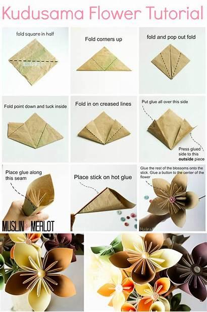 Flower Kusudama Origami Flowers Tutorial Paper Instructions