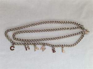 chanel necklace belt silver letters wwwchanelvintagenet With chanel letter necklace
