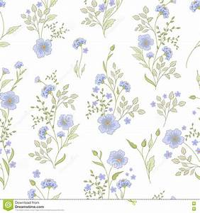 Small Flower Pattern. Vintage Floral Seamless Background ...