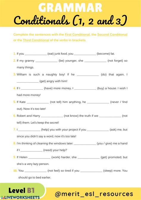 conditionals interactive  downloadable worksheet