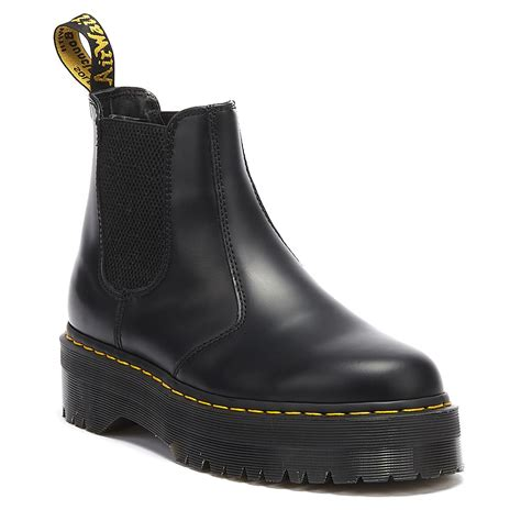 dr martens dr martens  quad womens smooth black boots  black  men lyst
