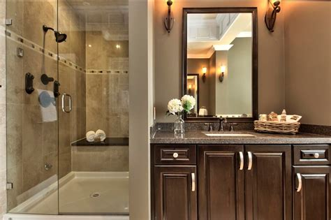 dark bathroom vanity bathroom transitional  accent