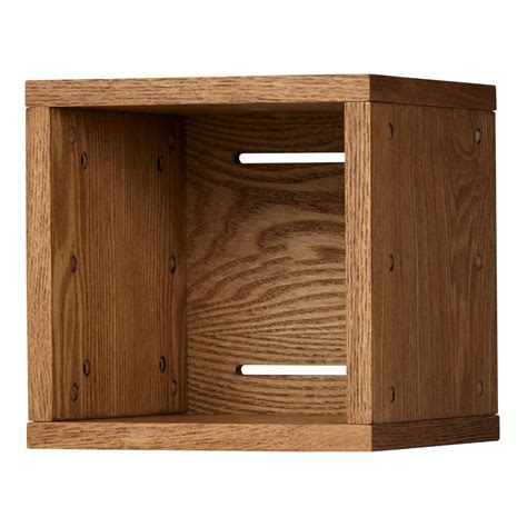 wooden cube shelf small cubby cube wall shelf wood veneer the land of nod