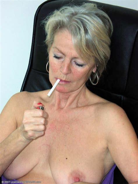Elegant Mature Smoking Cigarettes Sex