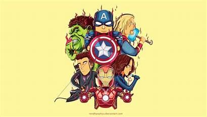 4k Avengers Wallpapers Cartoon Thor Hulk Iron