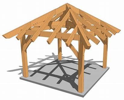 Gazebo Plans 12x12 Timber Frame Plan Roof