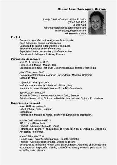 Templates De Resume En Espanol by Ejemplos De Resume En Espanol Resume Template Cover