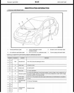 2015 Nissan Leaf Ze0 Service  U0026 Repair Manual  U0026 Wiring