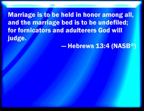 the marriage bed is undefiled bible verse powerpoint slides for hebrews 13 4
