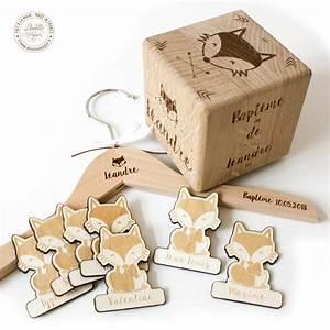 Cube En Bois Bébé : cube bois naissance gm dentelle de papier ~ Dallasstarsshop.com Idées de Décoration