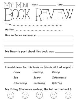 mini book review worksheet by ajoy2share teachers pay