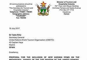 Zimbabwe wants UNWTO Secretary-General election process ...