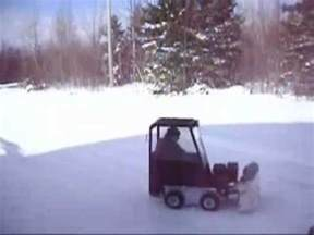 mini skid steer snow blower youtube