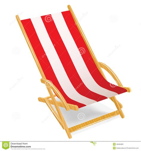 chaises de plage wooden chaise longue isolated on white stock vector