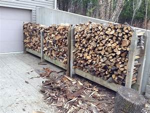 Outdoor Firewood Rack Storage Using Reclaimed Wooden Frame