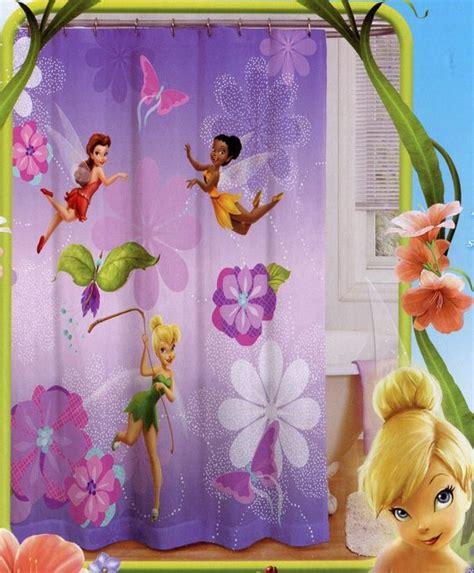 Disney Fairies Bathroom Accessories by Tinker Bell Shower Curtain Purple Bathroom Decor