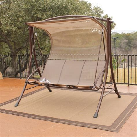 boca glider canopy swing set contemporary