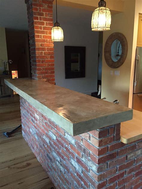 concrete overlay  tile bar countertops home bar