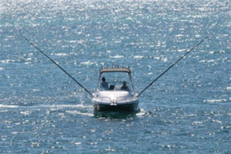 Fishing Boat With Outriggers by Outrigger Line Kit