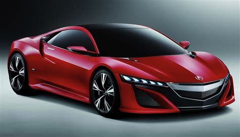 acura nsx concept front 3 4 view red egmcartech