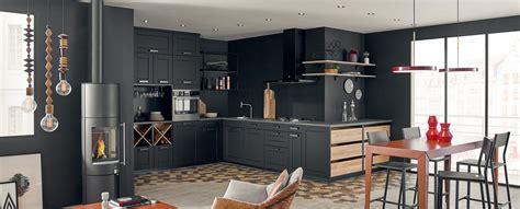 plan comptoir cuisine moderne et design ouverte mat ambiance