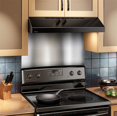 Kitchen Metal Backsplash Ideas - amazon com broan sp3004 backsplash range hood wall shield 24 by 30 inch stainless steel home