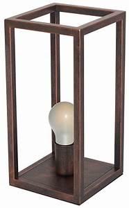 Lampe De Chevet Cuivre : lampe de chevet rustique noir cuivre ou ruggine e27 myplanetled ~ Teatrodelosmanantiales.com Idées de Décoration