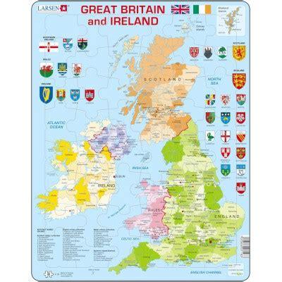 puzzle cadre carte du royaume uni en anglais larsen k18 48 pi 232 ces puzzles cartes du monde