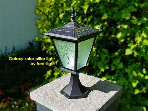 pillar or column mount solar lights galaxy solar