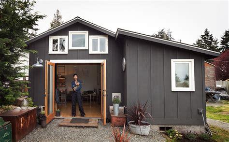 small garage converted  tiny mini house idesignarch