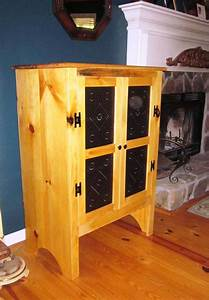19th Century Hand Made Pine Pie Safe with Punched Tin Door