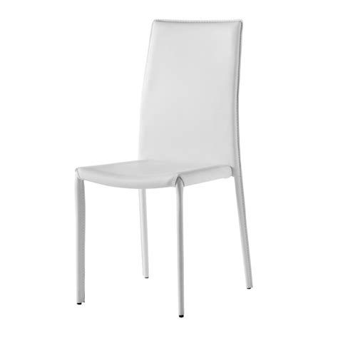 chaises simili cuir chaise design simili cuir blanc gold
