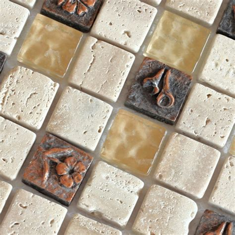 rock tile sheets with mosaic tile sheet