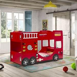 Lit Enfant Superposé : lit superpos enfant pompier rouge ~ Melissatoandfro.com Idées de Décoration