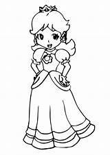 Peach Princess Coloring Pages Books Printable Q2 sketch template