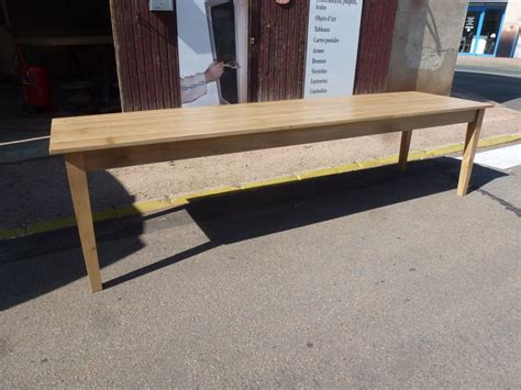 table de ferme en ch 234 ne massif de 3 m incolore robin sicle