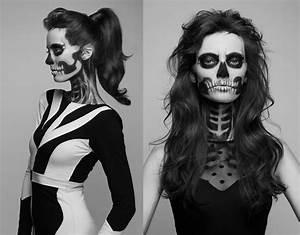 Maquillage Squelette Facile : inspiration de 10 maquillages glamour horreur pour halloween ~ Dode.kayakingforconservation.com Idées de Décoration